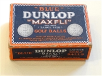 "EARLY ""BLUE"" DUNLOP ""MAXFLI"" LARGE SIZE GOLF BALLS - 6 BALLS IN BOX"