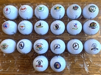 20 CONSECUTIVE YEARS OF NEW LOGOED U.S. OPEN GOLF BALLS, 1986-2005
