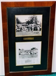 "2 HISTORICAL PHOTOS, ""GREAT FOURSOME 1935, ARMOUR, HAGEN, SARAZEN, JONES"" AND PHOTO OF PLAQUE OF GOOD WISHES TO BEN HOGAN"